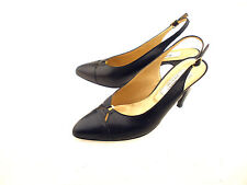 Bally Leather Slingback Pumps Cap Toe Women's Size 7B