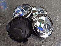 4X Logo mercedes couleur caps Cache moyeu centre roue 75mm jante badge AMG