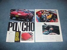 "1992 Pontiac Firebird Drag Car Article ""Poncho-Powered Poncho"""
