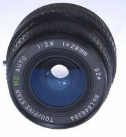 Minolta MC MD Mount f/2.8 28mm Wide Angle Lens X370 X570 X700 XG7 XD SRT XE