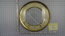 """CLOCK DOOR WITH CONVEX GLASS AND DIAL 6 3/16"""" or 15,7 cm across"""