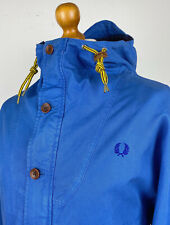 Fred Perry | Hooded Tartan Lined Parka L|XL|44 (Blue) Mod Scooter Terrace Causal