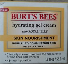 Burt's Bees Skin Nourishment Hydrating Gel Cream with Royal Jelly 1.8 oz OPEN PK