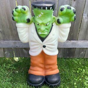 "Illuminated 35"" Frankenstein Monster Blow Mold - Empire Halloween 1999"