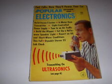 POPULAR ELECTRONICS Magazine, September, 1964, FUEL CELLS, ULTRASONICS!