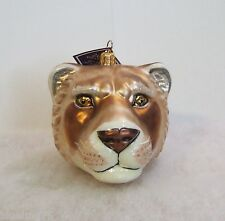 Slavic Treasures Ornament 2008 Lioness Head Hand Blown Glass Poland Nib (S2)