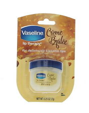 Vaseline Lip Therapy Lip Balm, Creme Brulee 0.25 oz (Pack of 2), New