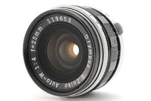 【 NEAR MINT 】Olympus E.Zuiko Auto-W 25mm F4 Beautiful Lens from JAPAN