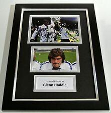 Glenn Hoddle SIGNED FRAMED A4 Photo Autograph Display Tottenham Hotspur & COA