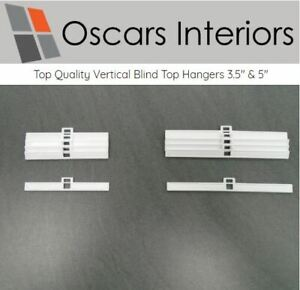 """Professional Quality Vertical Blind Top Hangers 3.5"""" & 5"""" Width Spares Parts"""