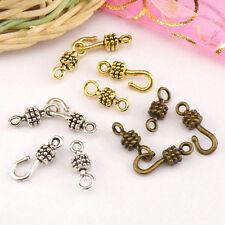 15Sets Tibetan Silver,Antiqued Gold,Bronze Hooks Connectors Toggle Clasps M1417