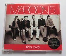 Maroon 5 - This Love  - 3 TRACK MAXI CD mit Video