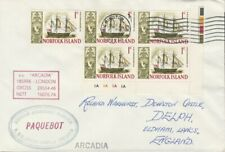 Norfolk Island 4530 - Used in WILMINGTON (California)  1968 PAQUEBOT cover to UK