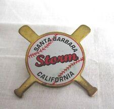 """VINTAGE STORM BASEBALL TEAM SANTA BARBARA CA. COLLECTIBLE  1 3/4""""  PIN"""