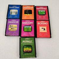Atari 2600 Game Lot of 7 Activision Games Kaboom Pitfall Boxing ect.. UNTESTED