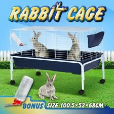 100cm Bunny Rabbit Cage Guinea Pig Hutch Inchilla House Water Bottle with Stand