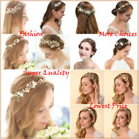 HOT Bridal Wedding Headbands Pearl Flower Barrette Rhinestone Hair Comb