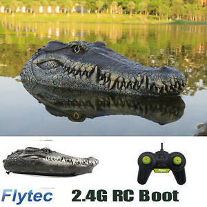 Flytec V005/V002 2.4G RC Boat for Pools Simulation Crocodile Head Boats Toy X3Y7