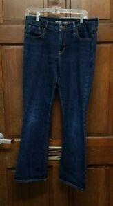 Old Navy Curvy Profile Mid Rise Dark Wash Denim Blue Jeans Women's Size 12 Short