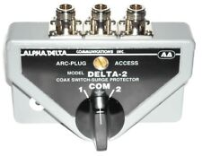Alpha Delta 2B/N Coaxial Switch 2 Way with Built in Lightning Surge Protection