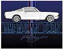 Ford Mustang American Icon metal sign  (st)