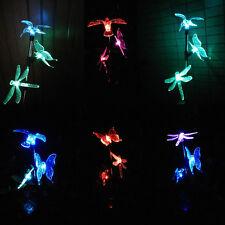Yard Lawn Light Butterfly Bird Dragonfly LED Solar Light Outdoor Garden Lamp