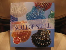 Paper Weight Iridescent Glass Hand Made Scallop Sea Shell Nautical Home Decor