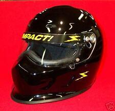 Impact Champ Gloss Black Racing Helmet Full Face SA2015 imca Drag Size Large