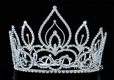 Vintage Style Pageant Beauty Contest Tall Tiara Full Circel Round Crown T1693