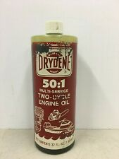 Vintage Drydene Two Cycle Engine Oil Can Bottle Outboard Empty Plastic Bottle