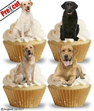 PRE-CUT LABRADOR RETRIEVERS EDIBLE WAFER PAPER CUP CAKE TOPPERS DOG DECORATIONS