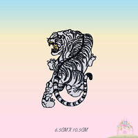 White Tiger  Animal Embroidered Iron On Patch Sew On Badge Applique