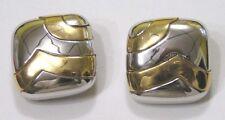 Vintage Jewelry CINER Earrings Goldtone Silvertone Squares Geometrics