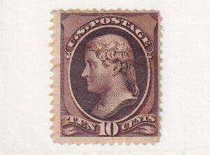 1882 U.S. Scott # 209 Ten Cent Jefferson Stamp Mint No Gum