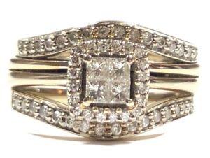 Elegant Ladies 14K Yellow Gold Diamond Engagement & Wedding Ring .20TCW - Sz 7.5