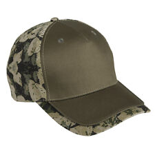Wholesale 12 Blank Hats Olive / Camo Cotton Twill Embroider/Screen 6 Panel