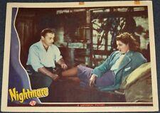 NIGHTMARE 1942 ORIGINAL 11x14 LOBBY CARD! BRIAN DONLEVY FILM-NOIR CRIME!