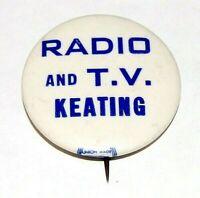 1964 SENATOR KENNETH KEATING TV RADIO NY SENATE pin pinback button political rfk