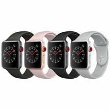 Apple Watch 3 42mm GPS+ Cellular Stainless Steel white Sport Band A Stock