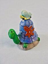 Fairy Garden Miniature Decor Turtle /Butterfly W/ Flower Resin Figure Brand New