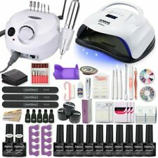 Manicure Set Acrylic Nail Kit With 54W Nail Lamp 35000RPM Nail drill ALL IN SET