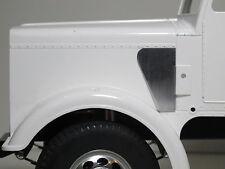 Pair Air intake pipe Block Off Plate Cover for Tamiya RC 1/14 Semi King Hauler