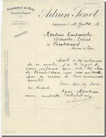 Lettre Commerciale - Adrien SENOT Scierie à Chatelay 1931