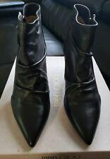 Jimmy Choo  Dayton Zip Boot Calf Leather blk 65mm Sz 41
