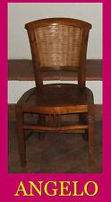 Sedie in teak e bambù legno massello per ristorante o casa. ORIGINALE Indonesia.