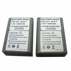2PK BLN-1 Battery For Olympus OM-D E-M1, E-M5 Mark II, PEN E-P5, E-M5 Mark III