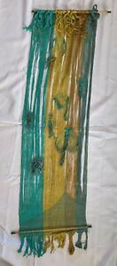 Mid Century Modern Art Dorothy L. Meredith Artist Weaver Turquoise Weaving Wall