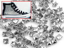 Silver Alloy 100 pcs 6mm Pyramid Studs Rock Design Spikes-Spots Duty Home
