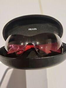 Authentic PRADA Mens Womens Vintage Sunglasses Shield STAR