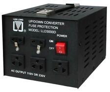 3000W SPANNUNGSWANDLER 230-110 Volt Converter USA Wandler Step-up Step-down NEU